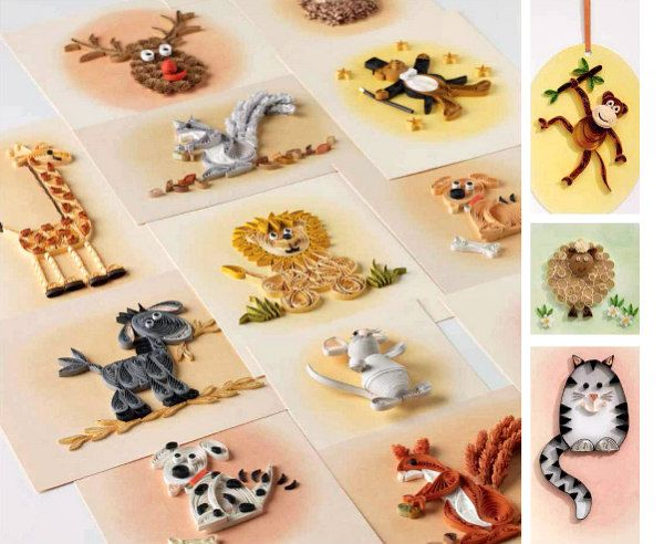 cute quilled animals