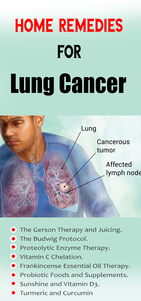 home remedy for lung cancer