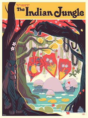 "The Jungle Book ""Visit the Indian Jungle"" Screen Print by Glen Brogan x Cyclops Print Works x Disney"