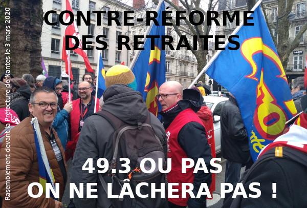 49.3 OU PAS, DES MOBILISATIONS CONTRE LA RÉFORME DES RETRAITES