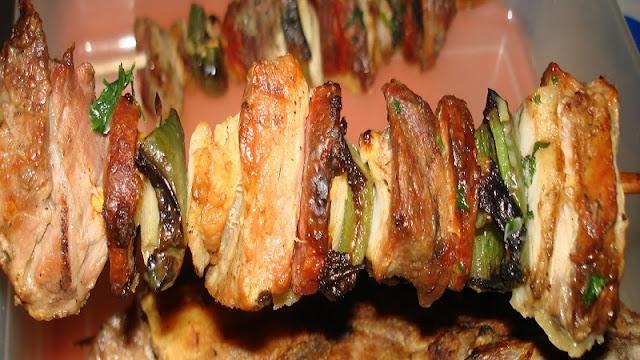 Espetinho de Porco (Imagem: Reprodução/Aventuras na Cozinha da Mary)