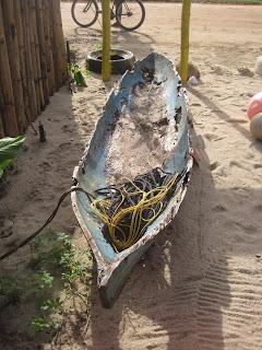Belize dugout canoe