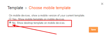 setting template mobile blogger