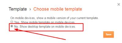 setting template mobile blogger