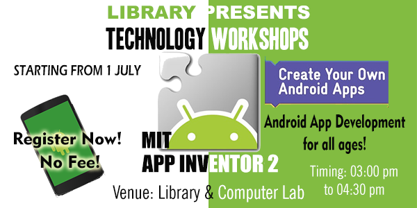 Library Technology Workshop Series II: MIT App Inventor 2