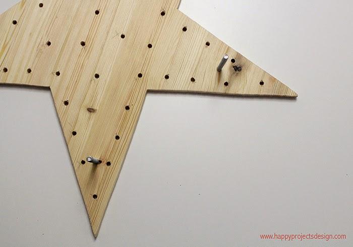 tutorial estrella de luces: hacer 5 agujeros