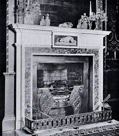 Fireplace in the Dining Room, Hatchlands  from The architecture of Robert and James Adam by AT Bolton (1922)