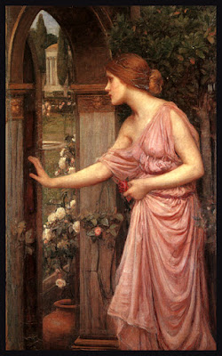 Psique entrando en el jardín de Cupido