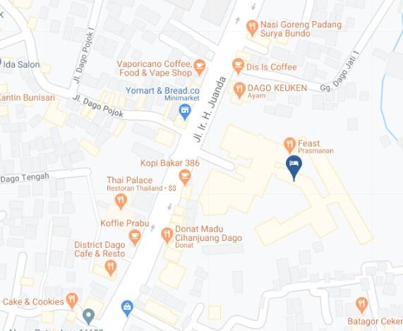 Map Letak Hotel Sheraton Bandung