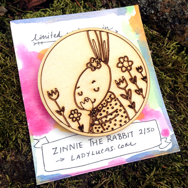 The Pins are Here! Limited Edition Wooden Animal Character Brooches by Lady Lucas | Linzer Lane Blog