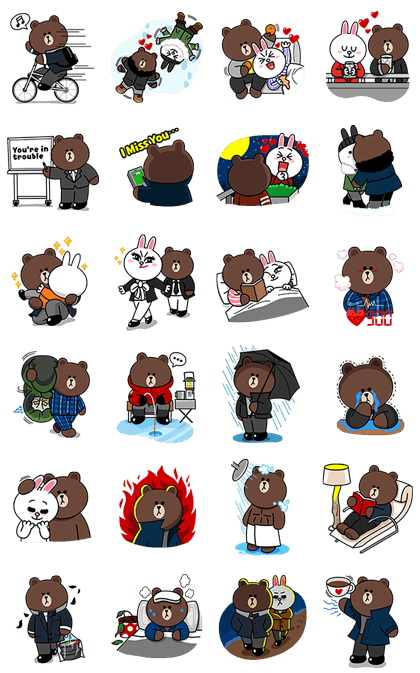 Line Stickers Community Free Line Stickers Brown Conyʹs Life In The City