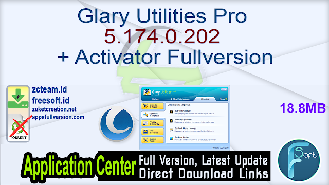 Glary Utilities Pro 5.174.0.202 + Activator Fullversion