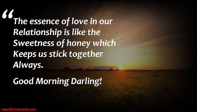 """""""The essence of love in our Relationship is like the Sweetness of honey which keep us stick together Always. Good Morning Darling!"""""""