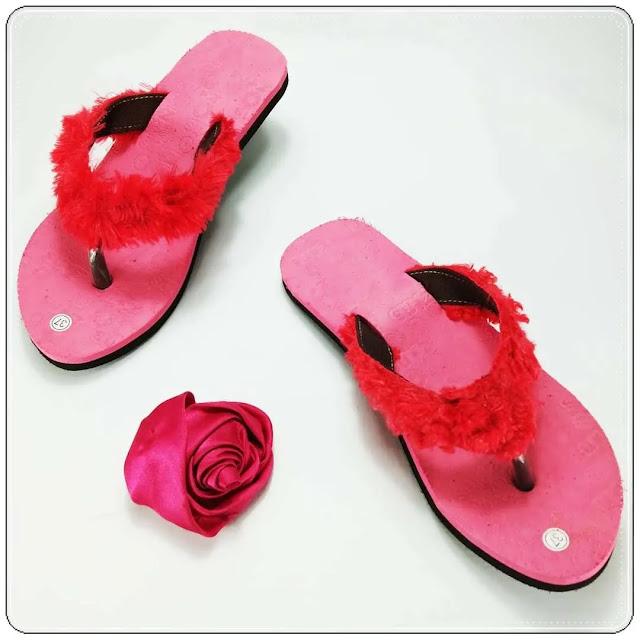 grosirsandalmurah.org-sandal wanita- Lisban Bulu GSJ