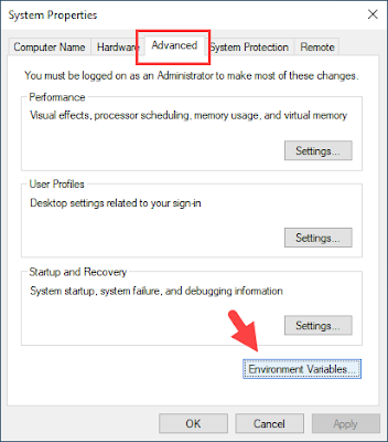 environment variable, windows 10
