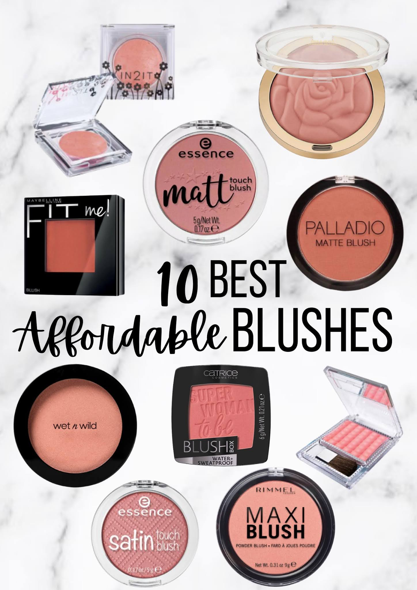 Let's Talk Cheeks | 10 Best Affordable Blushes