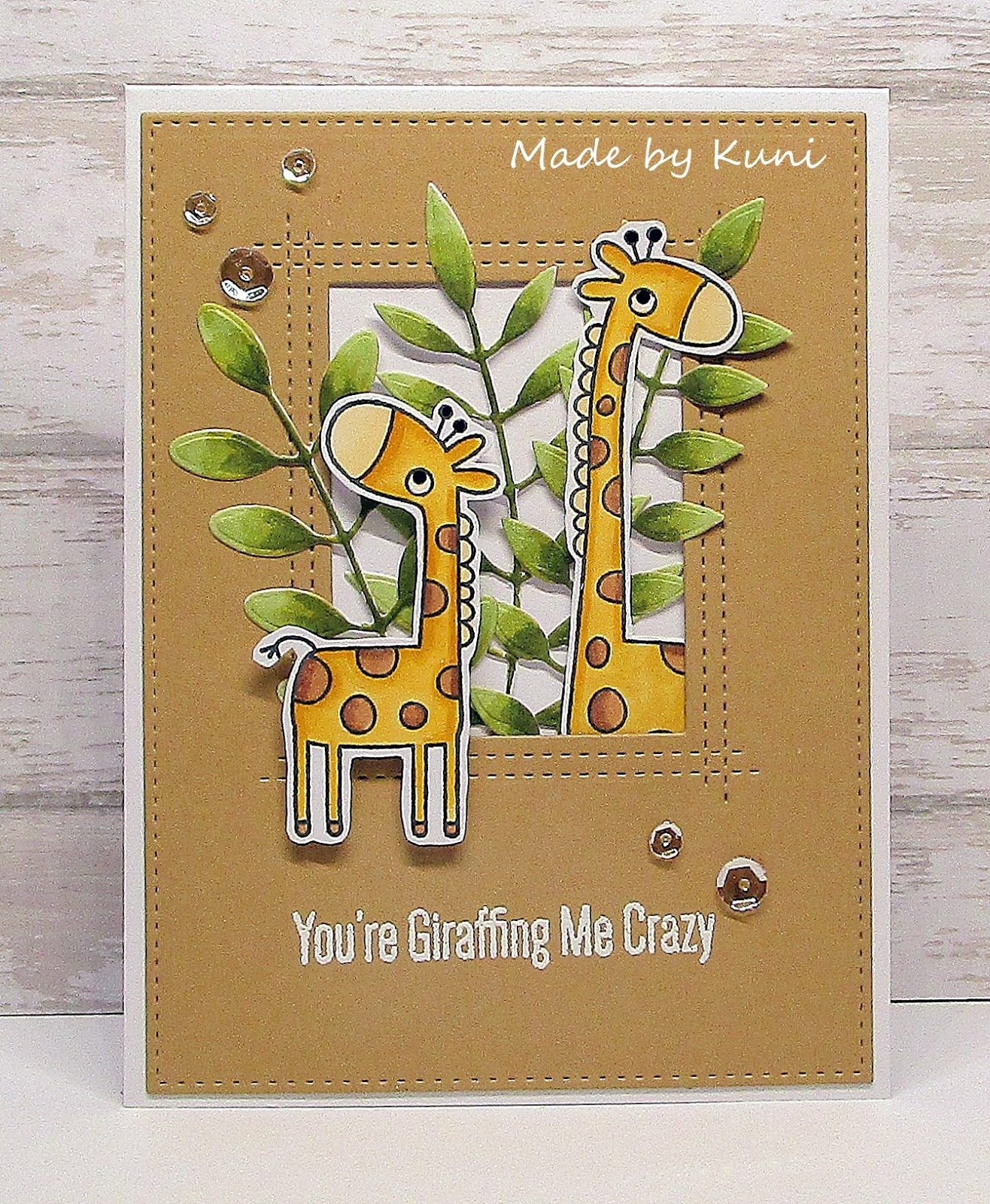 Открытки, открытка жирафик