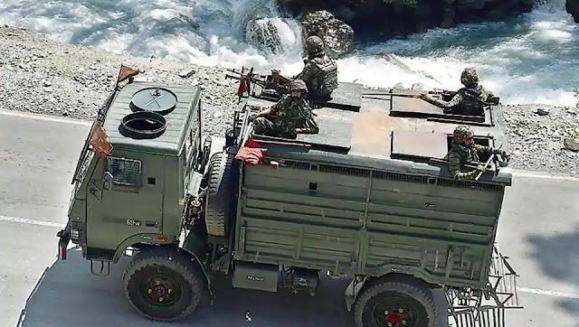 Army convoy in ladakh