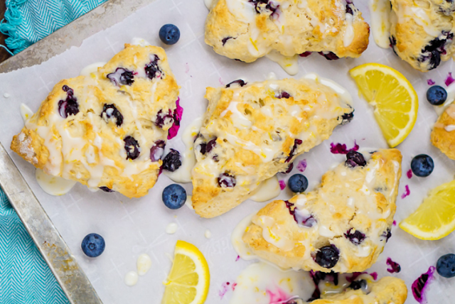 Lemon Blueberry Scones #dessert #recipes
