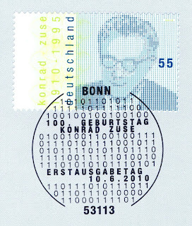 Germany 2010 Konrad Zuse 1st day cancellation