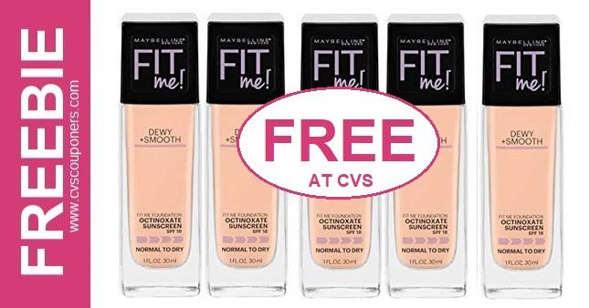 FREE Maybelline Fit Me Foundation CVS Deal