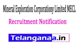Mineral Exploration Corporationy Limited MECLRecruitment Notification 2017