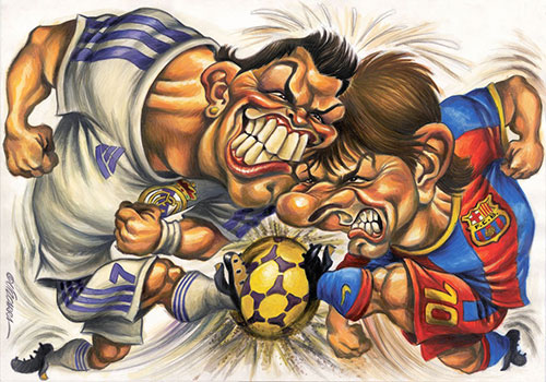"""""""Cristiano Ronaldo"""" vs """"Leo Messi"""" por Joan Vizcarra"""