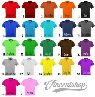 22 warna kaos polo