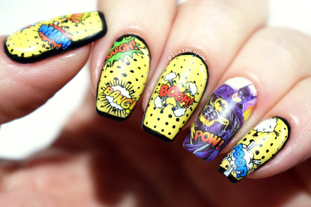 Batman Nails comic book inspired nerdy nails