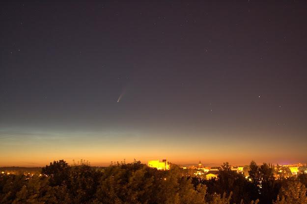 Kometa Neowise nad Iławą