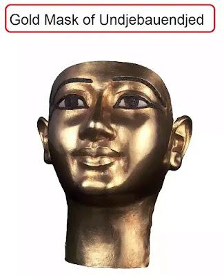 ancient egypt gold mask of General Undjebauendjed