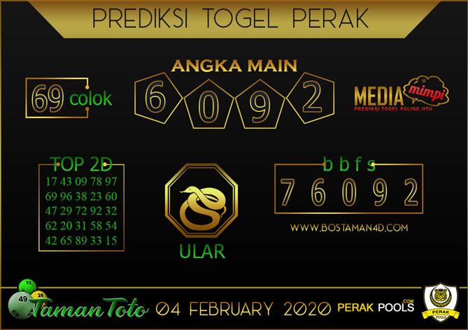 Prediksi Togel PERAK TAMAN TOTO 04 FEBRUARY 2020
