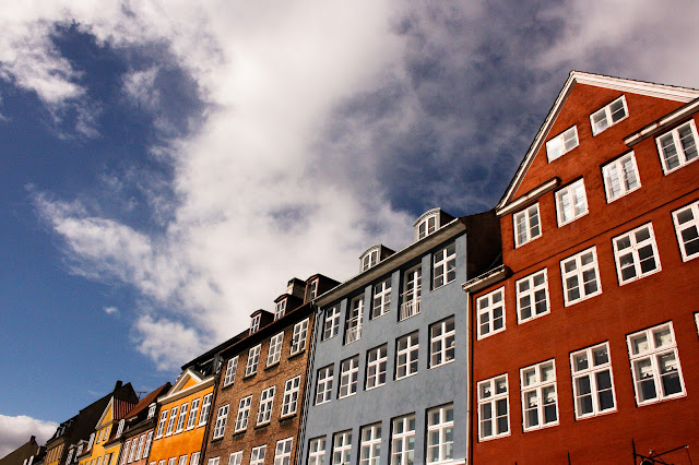 Photograph Browns and Rust Colored Dutch Building Houses in Copenhagen Denmark Horizontal Travel Fine Art Print Home Decor