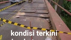 Jembatan Way Kunang Rusak Parah Warga Khawatir Untuk Melintas