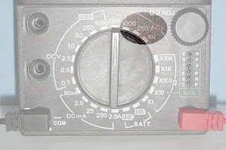 how to measure ac voltage using analog multimeter