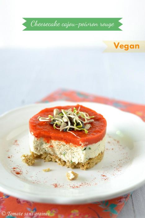 Cheesecake végétal noix de cajou et poivron rouge