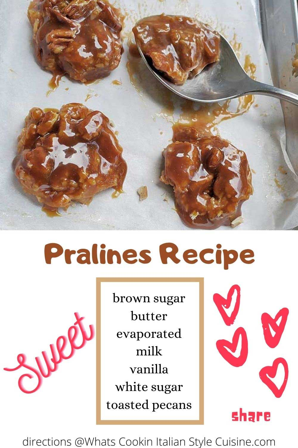 these are homemade pralines pin for later