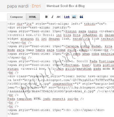 HTML, Membuat Scroll Box