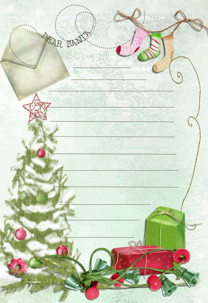This is a graphic of Slobbery Santa Letter Templates Free Printable