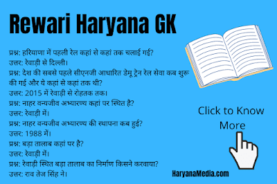 Haryana GK Rewari