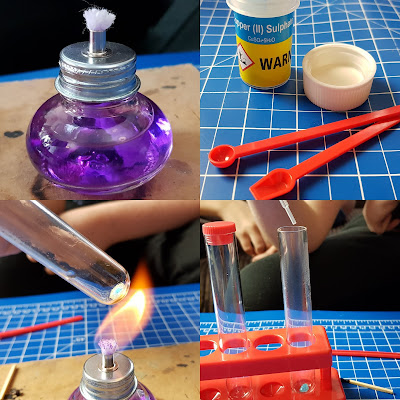 Chemistry Set review colour changing copper sulphate experiments