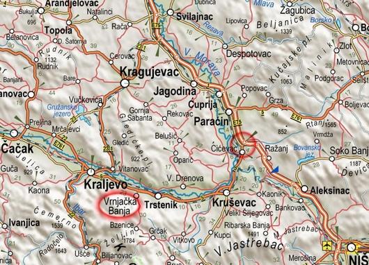 beograd vrnjacka banja mapa Vrnjačka Banja: Gde se nalazi i kako doći do Vrnjačke Banje? beograd vrnjacka banja mapa