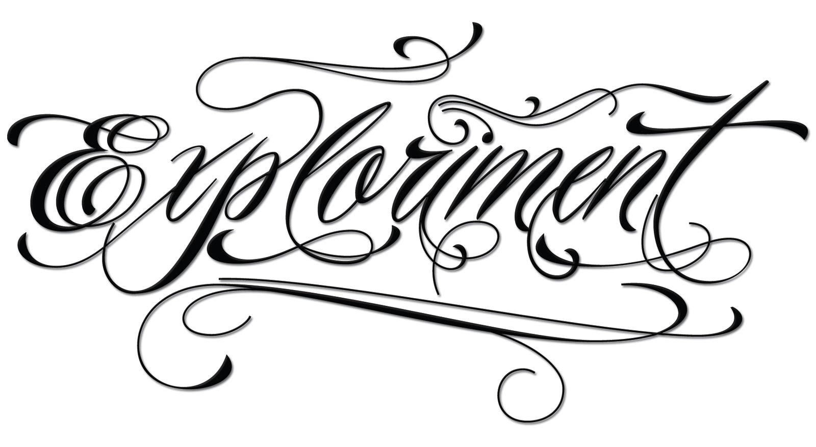 Free Online Font Generator Tattoos: Exploriment: Piel Script