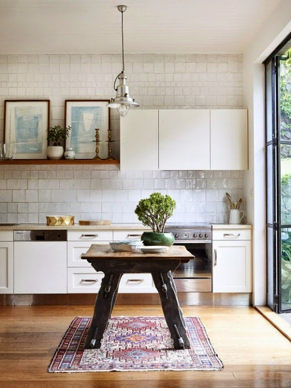 A Diary Of Lovely: Kitchen Rugs Inspiration