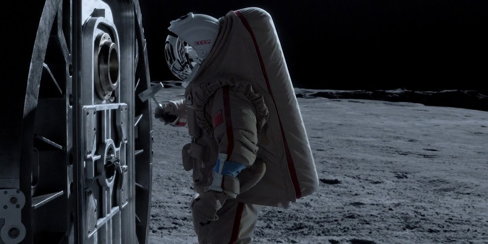 Soviet cosmonaut asking for rescue on the Moon in season 1 of 'For All Mankind'