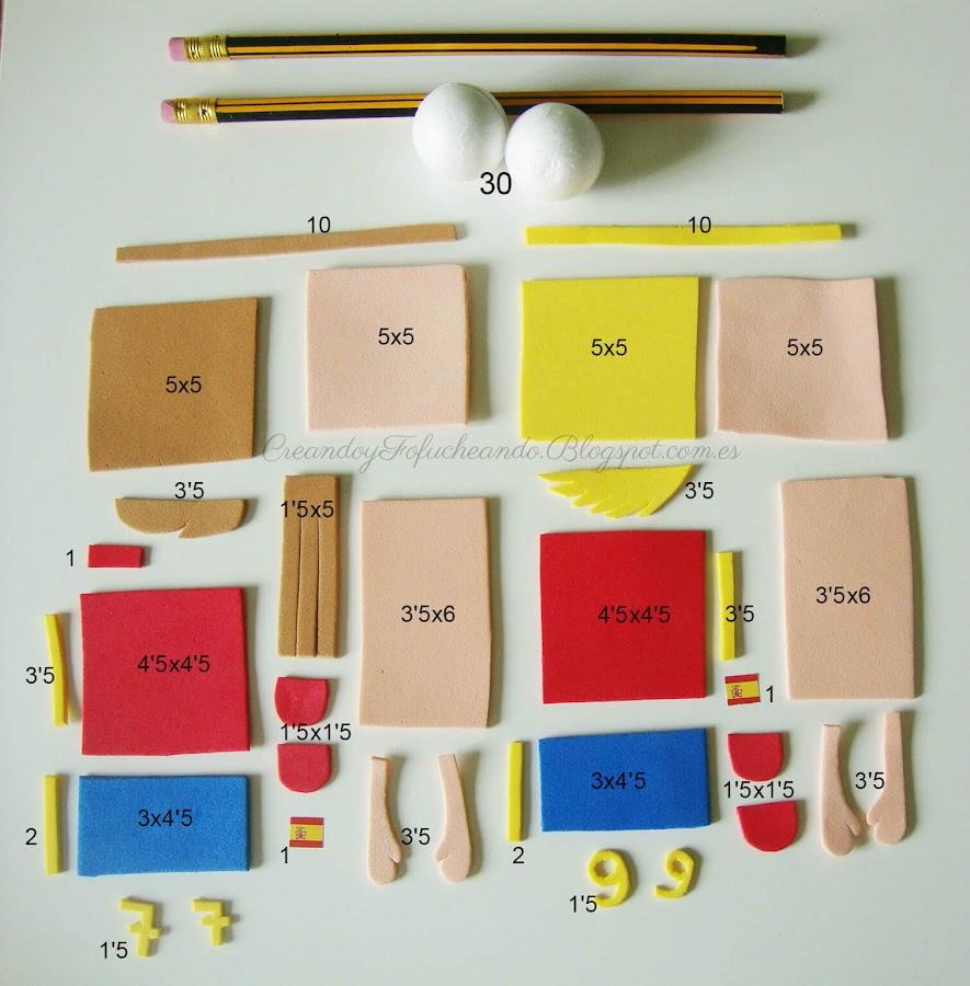 piezas para hacer fofulapices seleccion española
