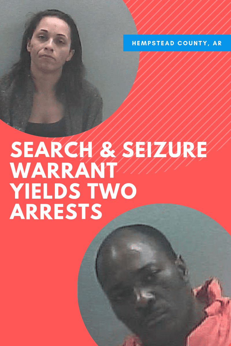 Search and Seizure Warrant produces two arrests in Hope