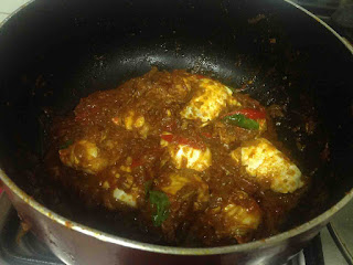 making of crab masala
