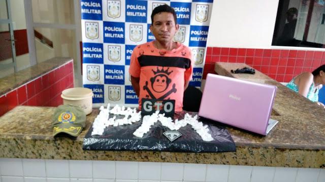 Em Salinas Chapolin é  preso por tráfico de drogas Policia Militar