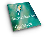 image of flat cartoon image doing the backstroke in the pool: Backstroke Swimming Steps - A Step by Step Guide cover